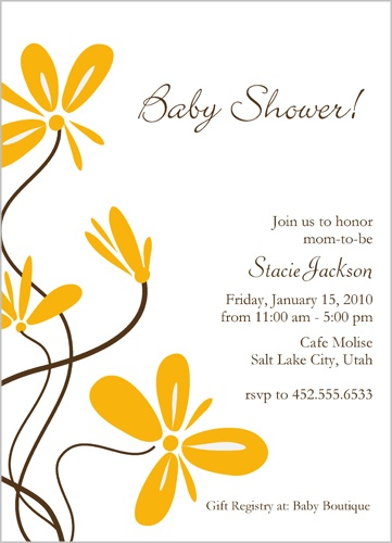Shutterfly Butterfly Blossoms Baby Shower Invitation